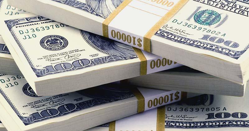 Salary / money in USD $100 notes